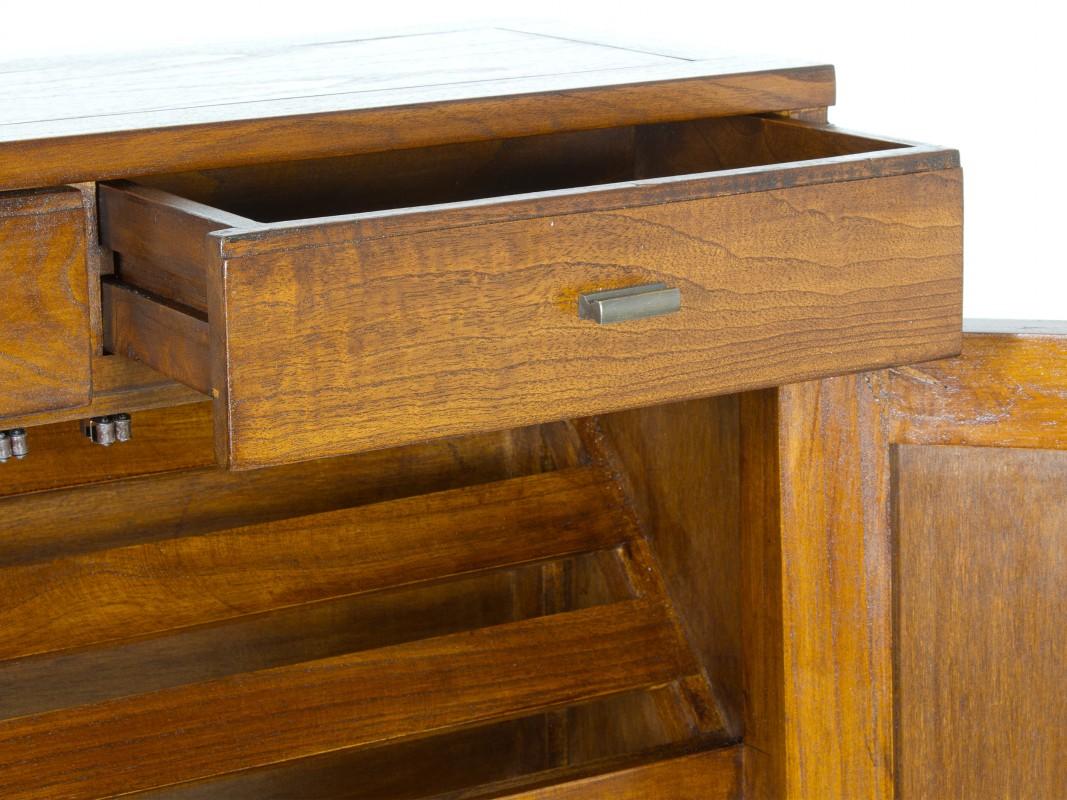 armario zapatero de madera maciza estilo colonial