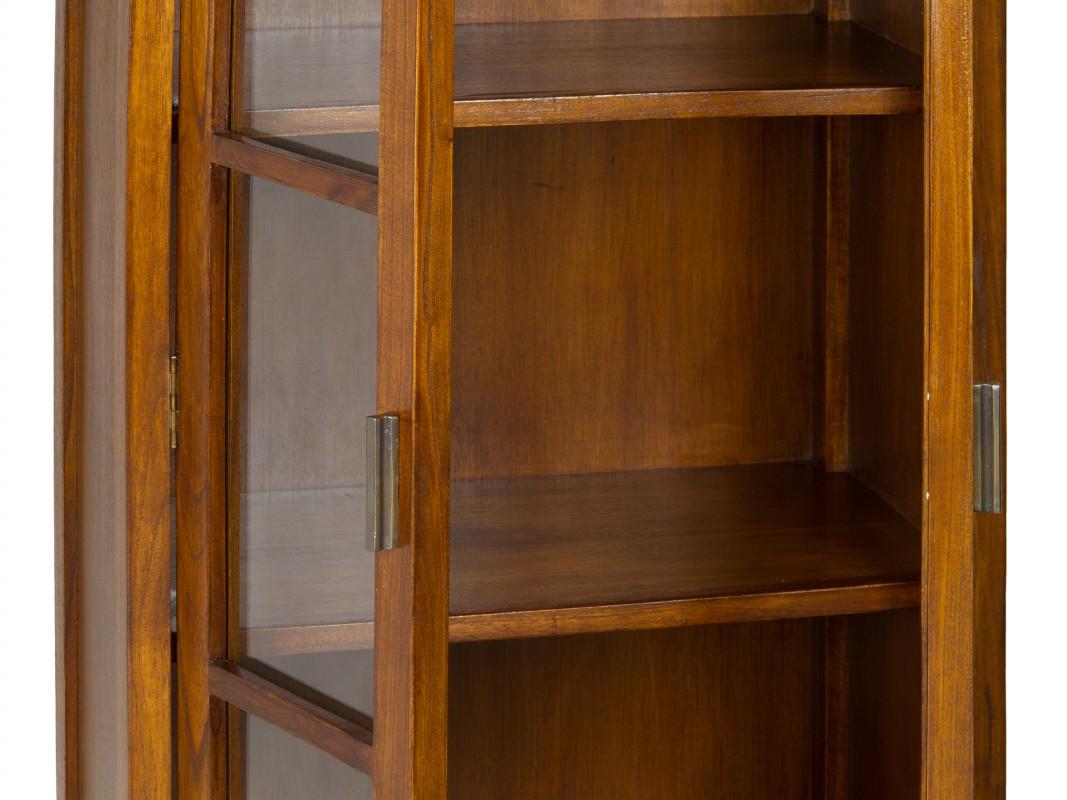 Mini vitrina colonial de madera vitrinas expositoras for Comedores y vitrinas de madera