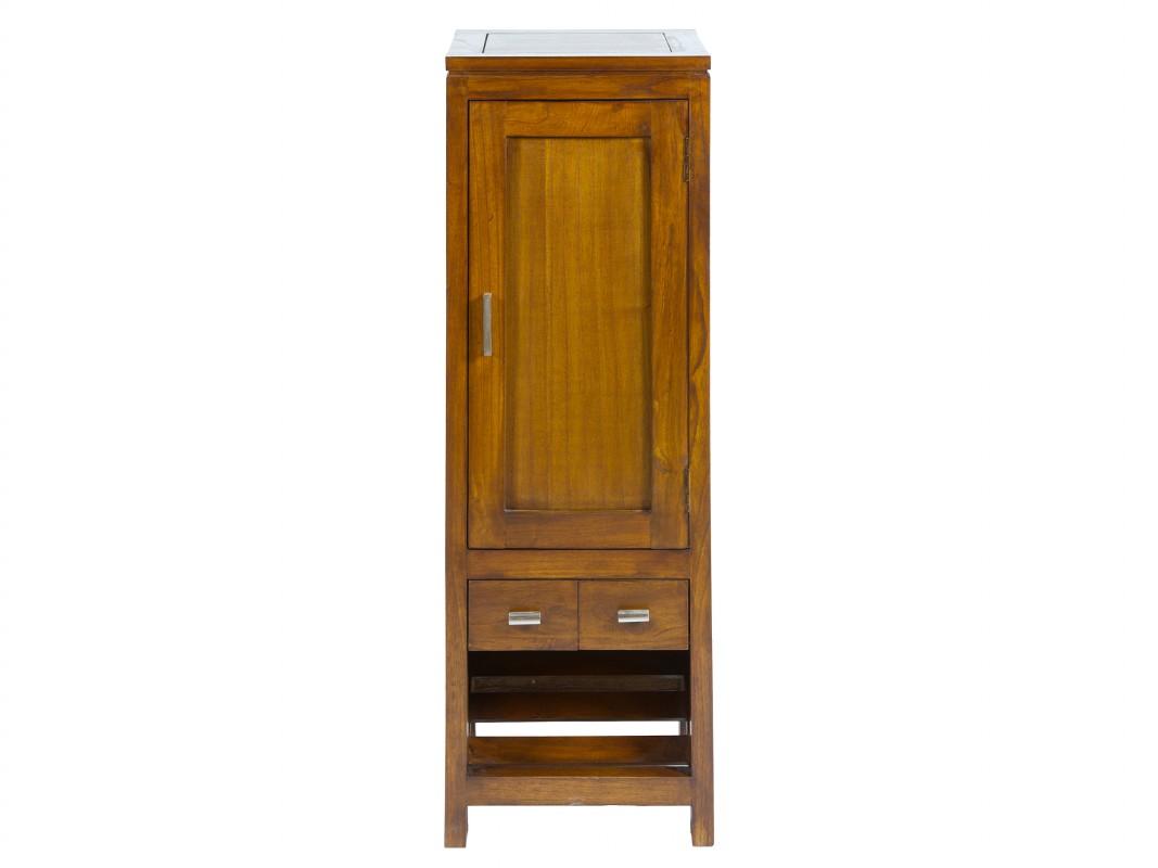Zapatero estrecho de madera con puerta y cajones zapateros for Zapatero para exterior