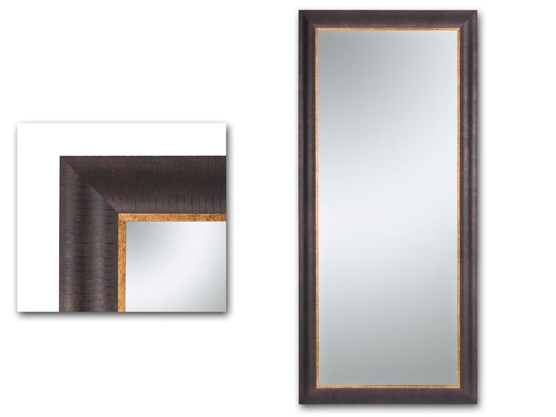 Espejo cuerpo entero marco marr n y dorado for Comprar espejo cuerpo entero