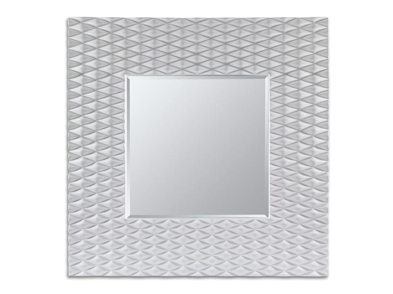 Espejo marco con rombos blanco - Espejo marco blanco ...