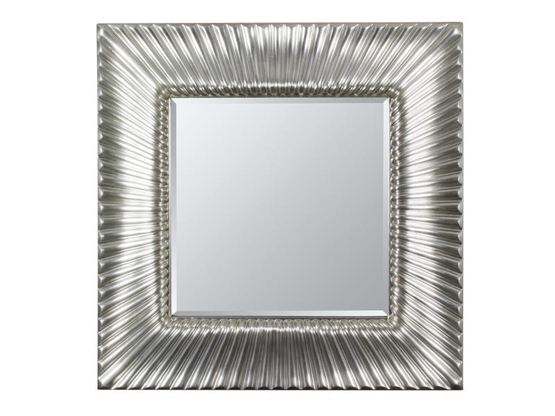 Espejo con marco rayado plata oscuro for Espejos con marco color plata