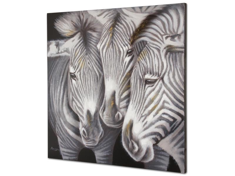 cuadro leo cebras blanco y negro - Cuadros En Blanco Y Negro