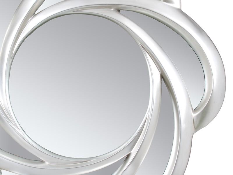 Espejo de pared flor plata con marco de resina - Espejos de resina ...