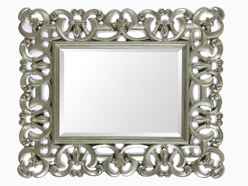 Espejo barroco con marco de resina plata - Espejos de resina ...
