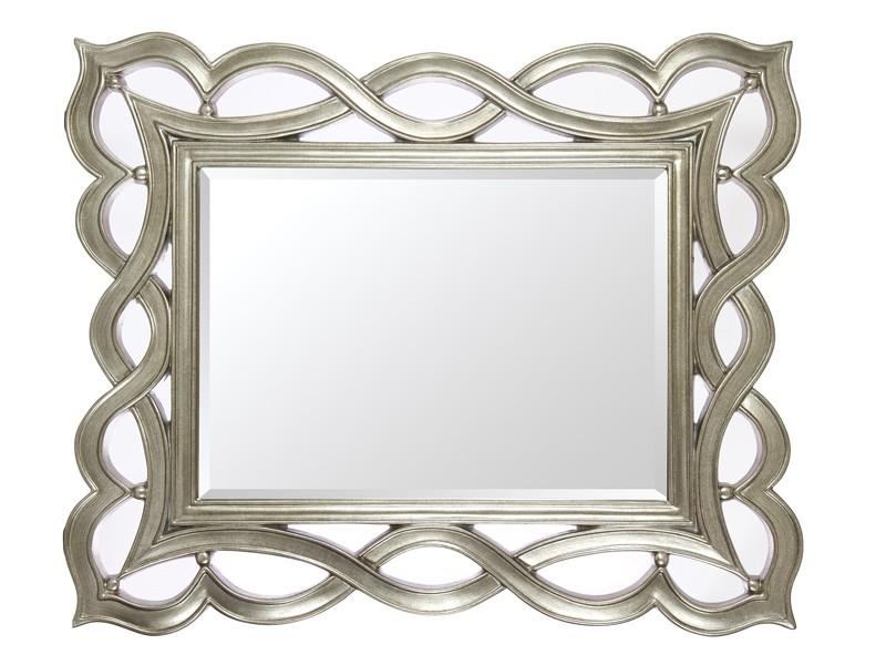 Espejo clsico plateado con marco de resina