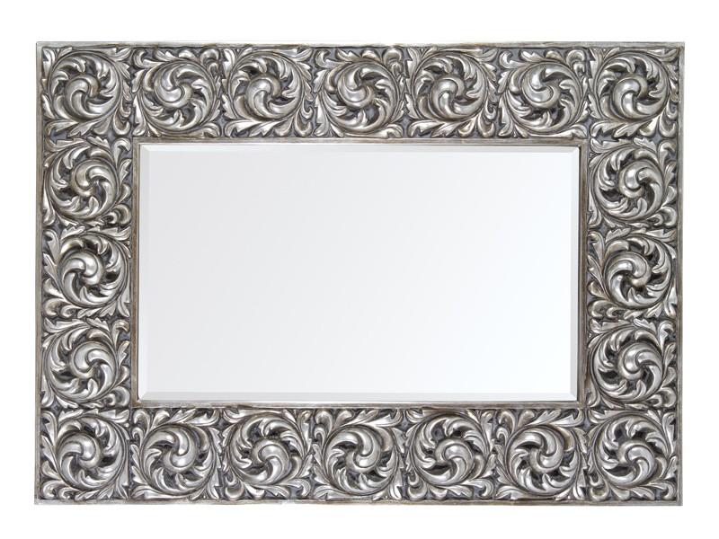 Espejo vintage plateado estilo barroco espejos decorativos for Espejos con marco plateado