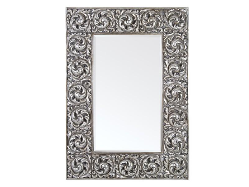 Espejo vintage plateado estilo barroco espejos decorativos for Espejo rectangular plateado