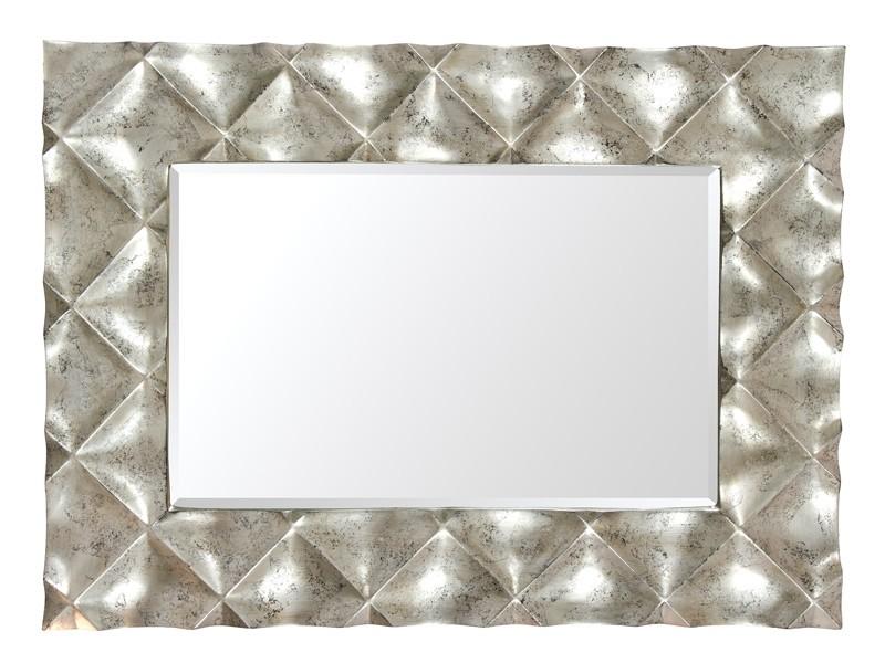 espejo de diseo de resina color plata