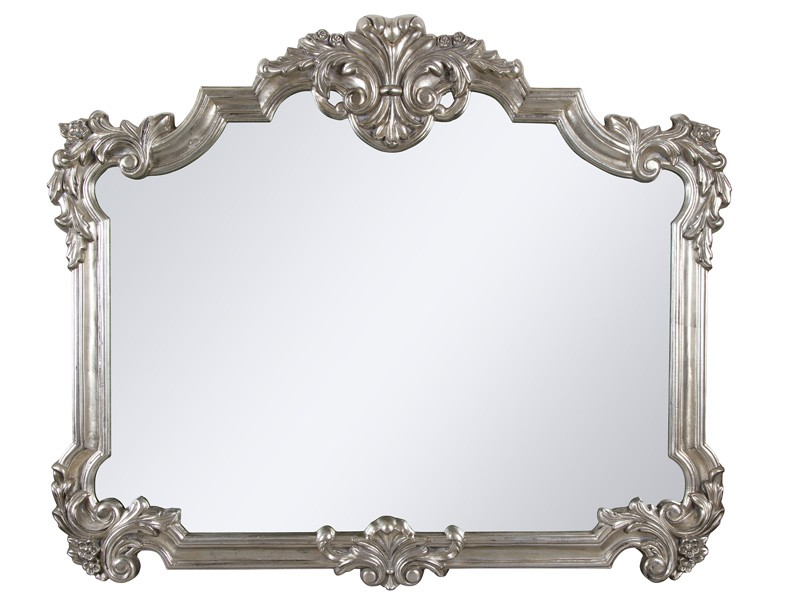 Espejo provenzal plata con marco de resina en relieve - Espejos de resina ...