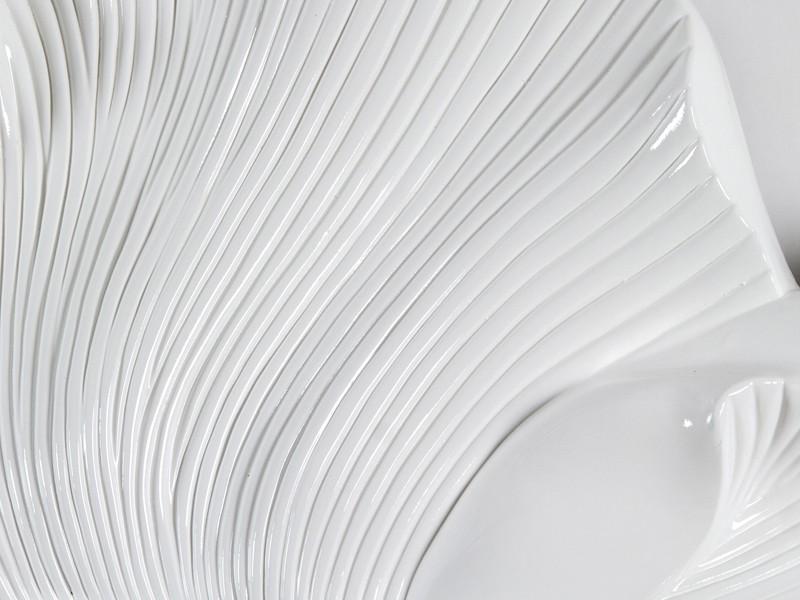 Espejo flor blanco con acabado brillante espejos decorativos for Espejos decorativos blancos