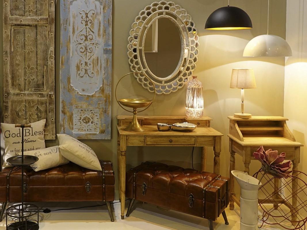 Espejo ovalado vintage de madera envejecida venta online for Espejo madera envejecida