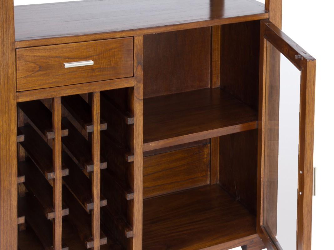 Mueble bar para sal n comedor en madera de estilo r stico for Bares en madera disenos