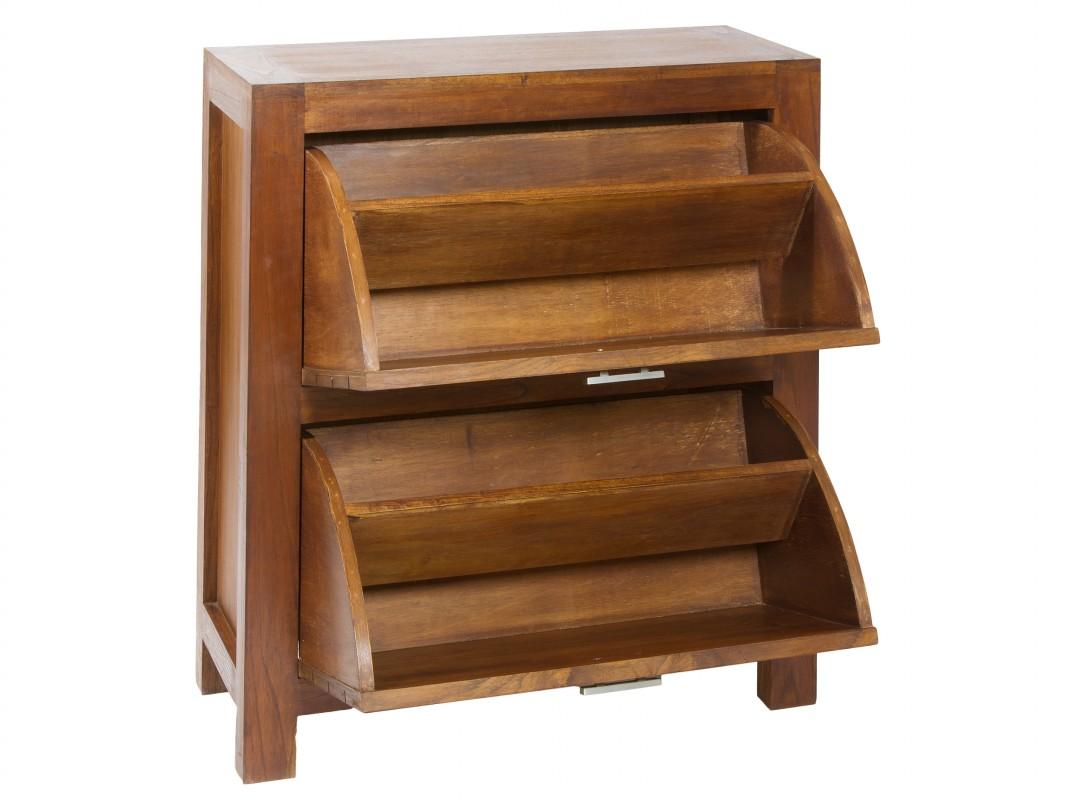Mueble zapatero peque o madera 2 puertas venta zapateros for Modelos de zapateros de madera
