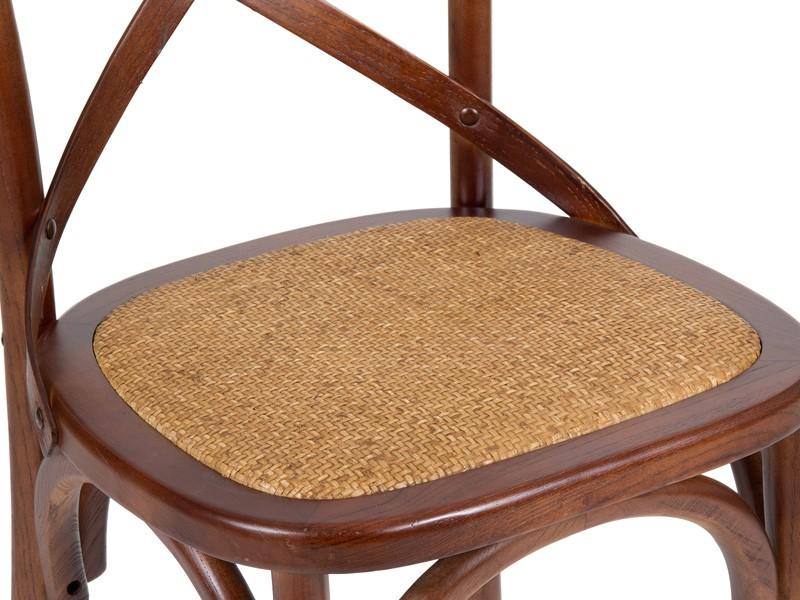 Mesa extensible y 4 sillas cruceta madera estilo colonial - Sillas estilo colonial ...