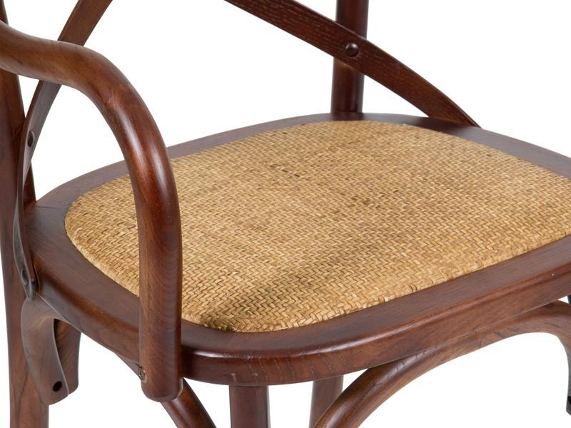 Silla cl sica de madera con reposabrazos venta de sillas for Sillas de salon con reposabrazos