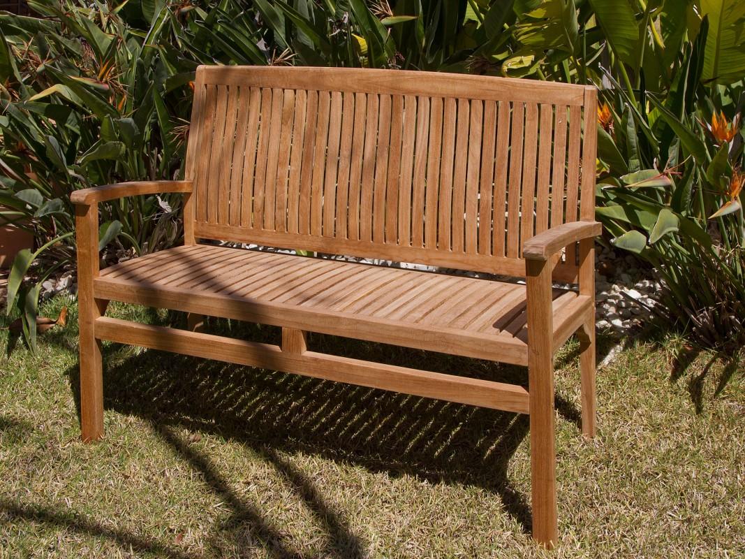 Banco bali de madera de teca bancos para terraza y jard n for Bancos de jardin precios