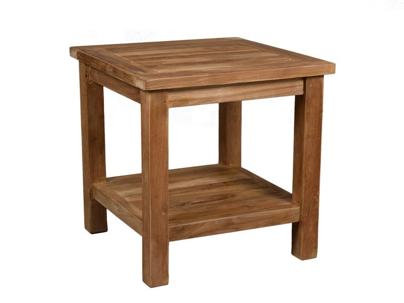 Mesa auxiliar jard n de madera de teca muebles de exterior - Muebles de madera de teca ...