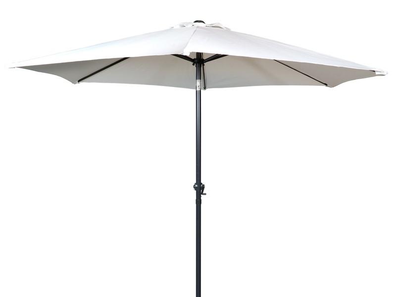 Sombrilla grande para terraza color beige - Pie para sombrilla ...