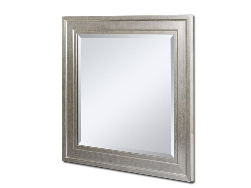 Espejo cuadrado con marco plateado - Espejos color plata ...