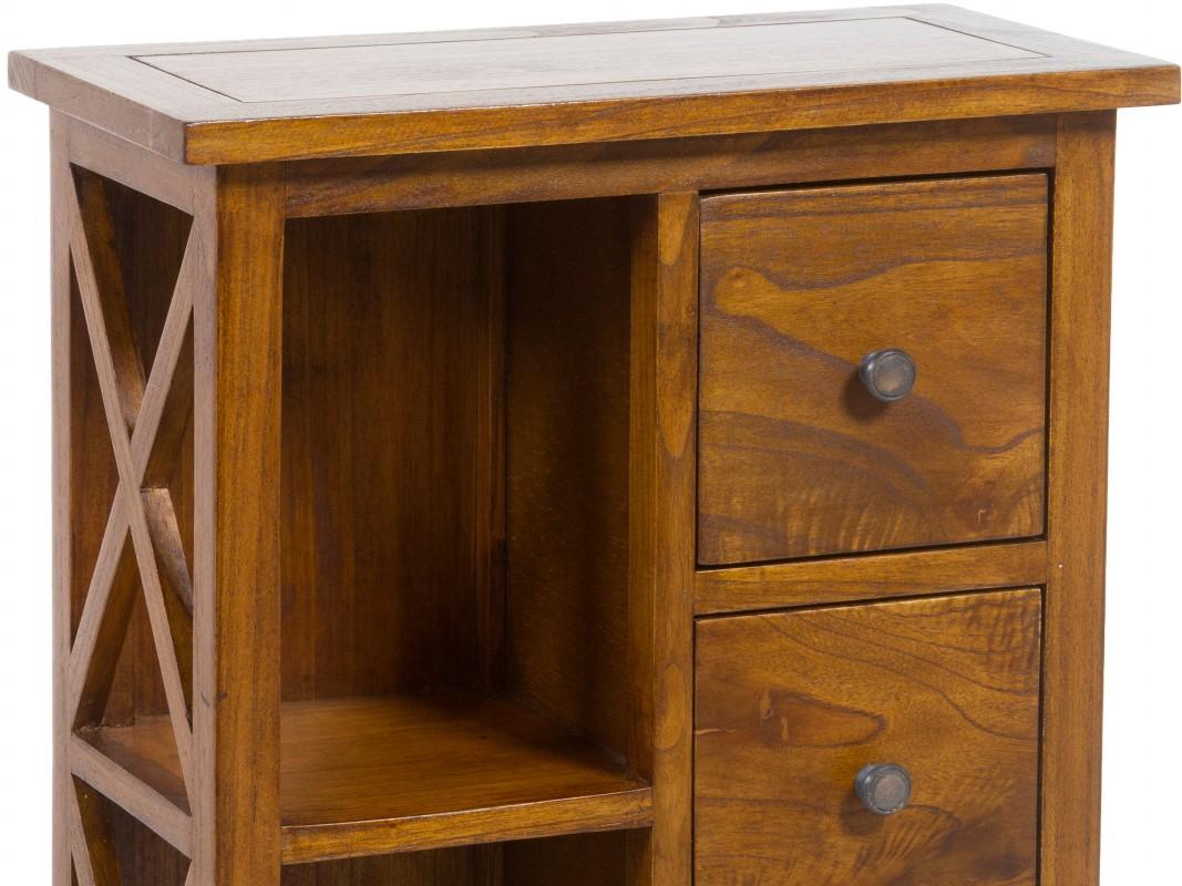 Mueble auxiliar sal n con cajones y estantes - Muebles de rinconera ...