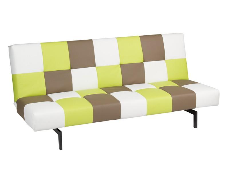 Sof cama cuadros de colores estilo juvenil for Sofa cama polipiel
