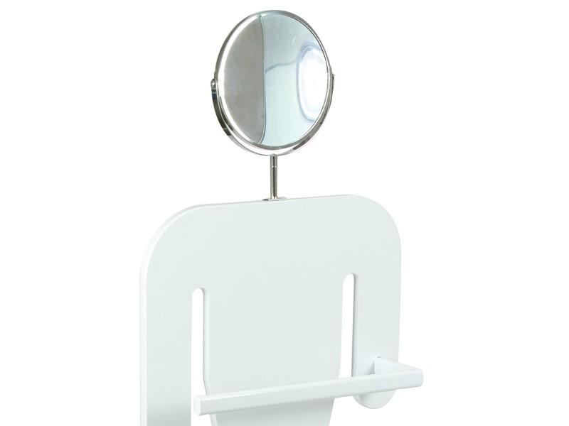 Perchero maniqu blanco con espejo percheros de pie for Espejo pie blanco