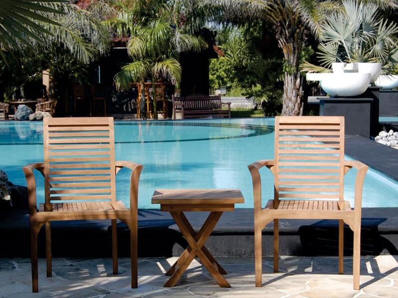 Mesa y sillas de madera para terraza muebles de jard n - Mesa terraza madera ...