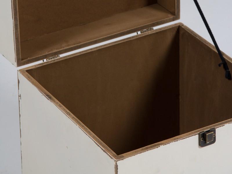 Caja de madera vintage blanca cajas decorativas online - Cajas de madera decorativas ...