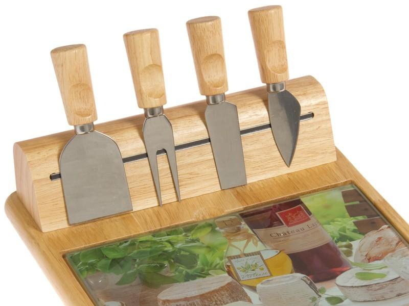 Tabla de madera y cuchillos para cortar queso - Cuchillo cortar queso ...