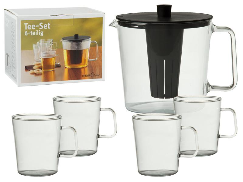 Set jarra y vasos de t art culos de menaje a bajo coste for Vasos de te