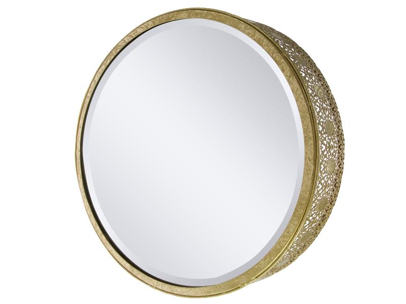 Espejo redondo con marco de metal 34 cm for Espejo redondo con marco