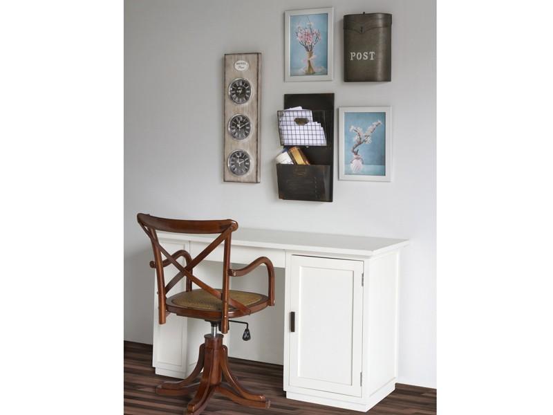 Silla despacho cl sica de madera y rattan sillas oficina for Sillas para oficina de madera