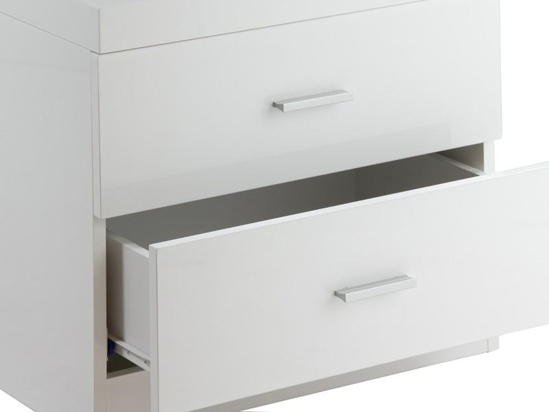 Mesa de noche blanca sin patas - Muebles de dormitorio