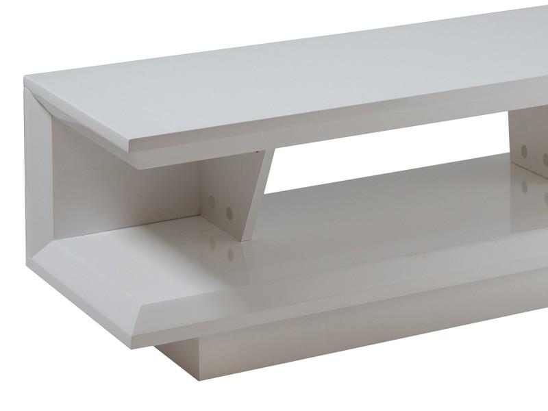 Mueble tv moderno blanco lacado mesas para televisi n for Mesas para tv modernas