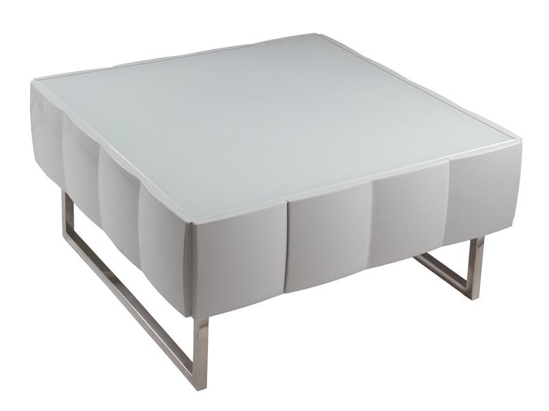 Mesa centro de dise o blanca lacada muebles sal n online for Mesas diseno online