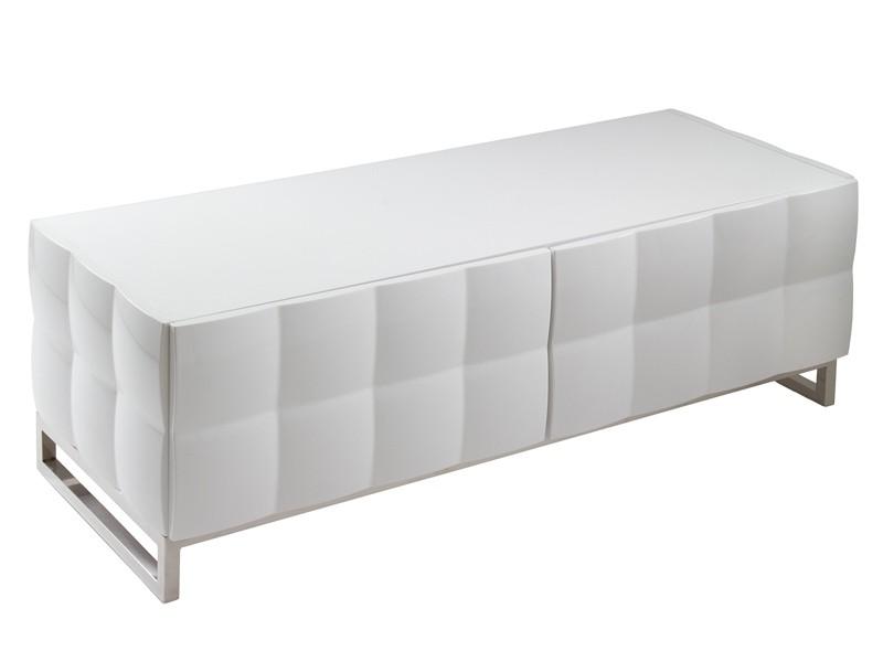 Mesa para tv de dise o blanca lacada muebles televisi n for Mesas de tv de diseno