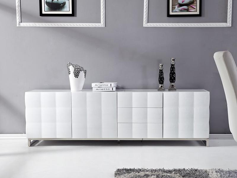 Mesa para tv de dise o blanca lacada muebles televisi n - Mesas tv diseno ...