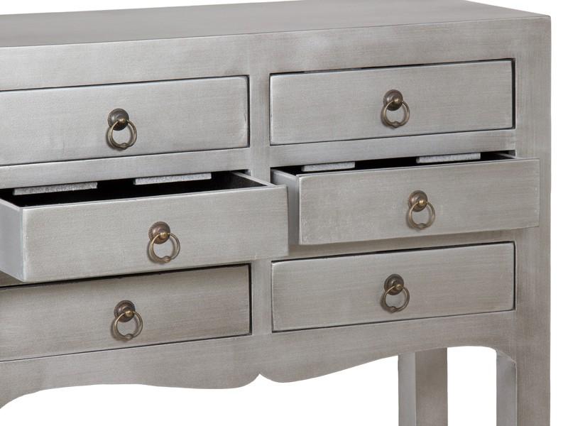 Recibidor vintage plata 6 cajones muebles de entrada for Mueble recibidor vintage