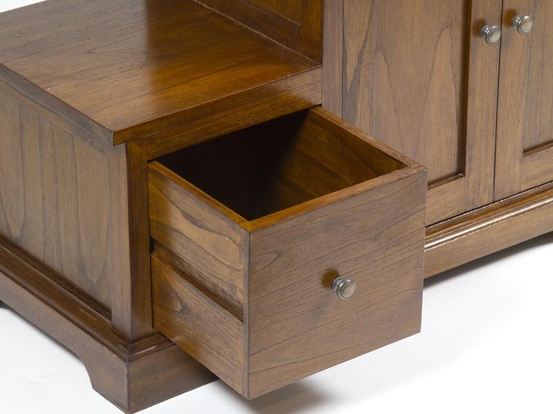 Mueble escalera con cajones y armario estilo colonial - El mueble colonial ...