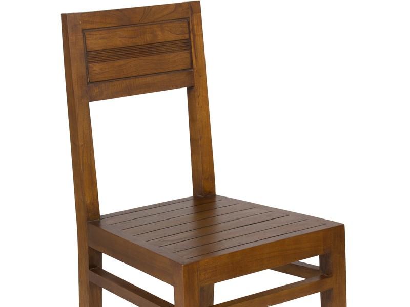 Silla para salón-comedor de madera estilo colonial Grace - photo#49