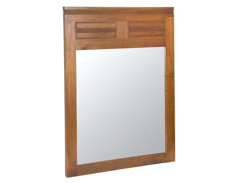 Espejo marco madera nogal estilo colonial para la pared for Modelos de espejos con marcos de madera