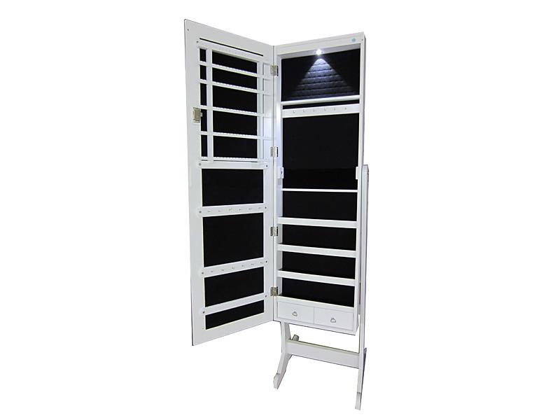 Mueble joyero vestidor con espejo blanco - Mueble espejo joyero ...