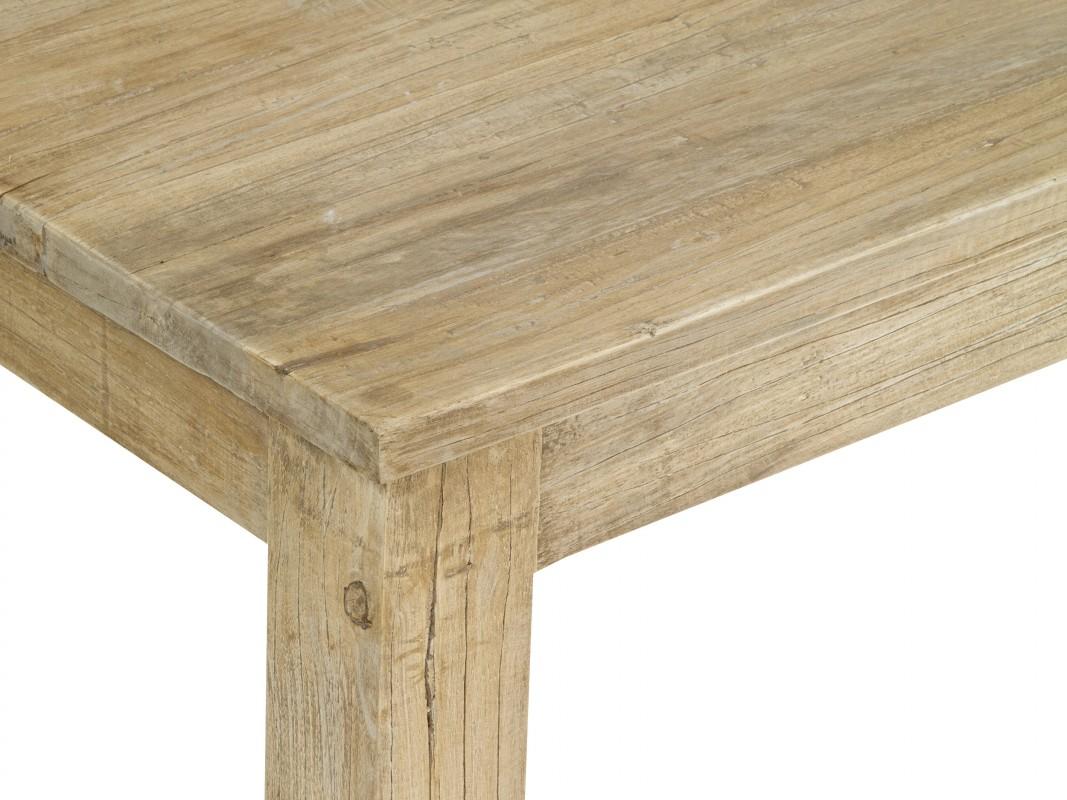 Mesa de centro barata de madera envejecida estilo r stico for Mesas de madera para jardin baratas