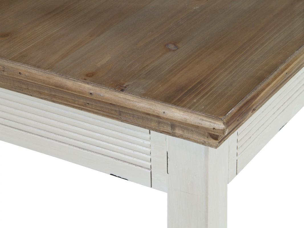 Mesa de comedor vintage de madera decapada   mesas online