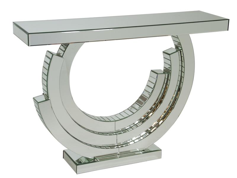 Consola entrada cristal de espejo muebles dise o recibidor for Espejos de diseno para recibidor
