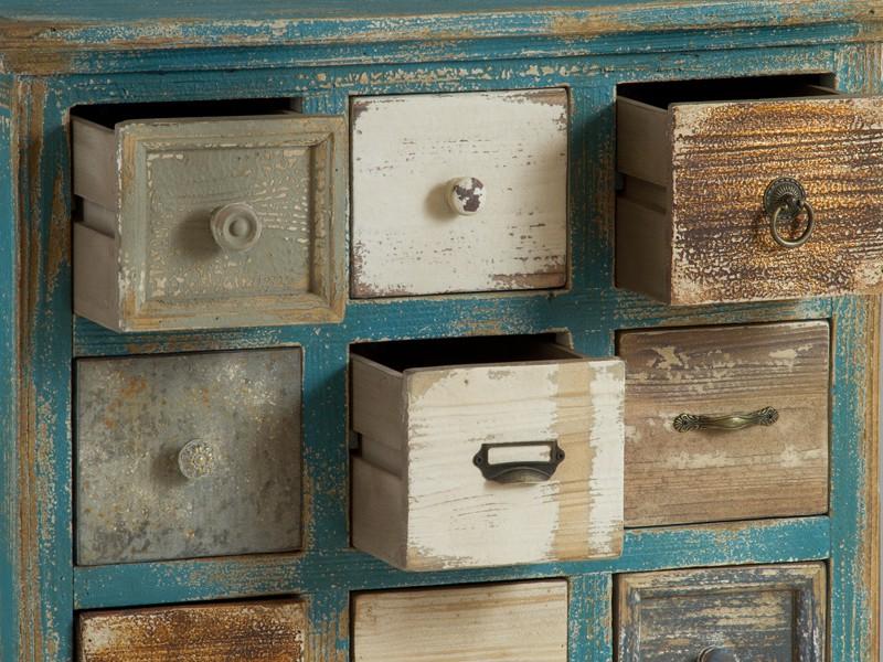 Mueble cajonera vintage mueble multicajones decapado - Cajoneras pequenas ...