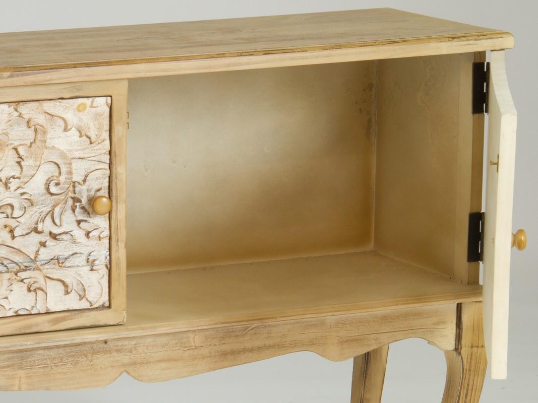 Aparador Blanco Brillo ~ Aparador isabelino pequeño madera natural estilo vintage