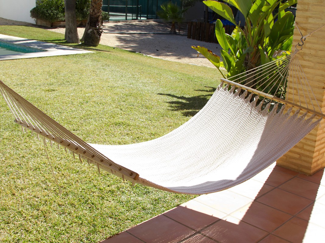 Hamaca de colgar para jard n o terraza hamacas online - Hamacas para jardin ...