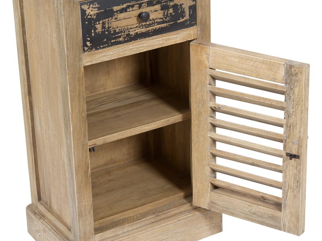 Mueble entrada estrecho de madera decape estilo vintage - Mueble bano estrecho ...